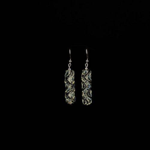 Earrings Crystal Yellow-Black 6