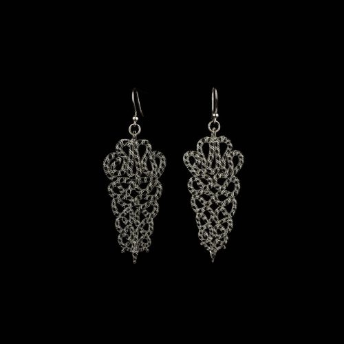 Earrings Lace 2 B:W