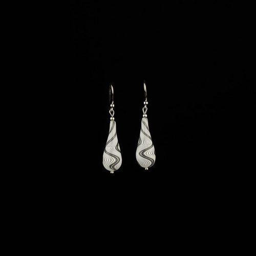 Earrings Moon White 3