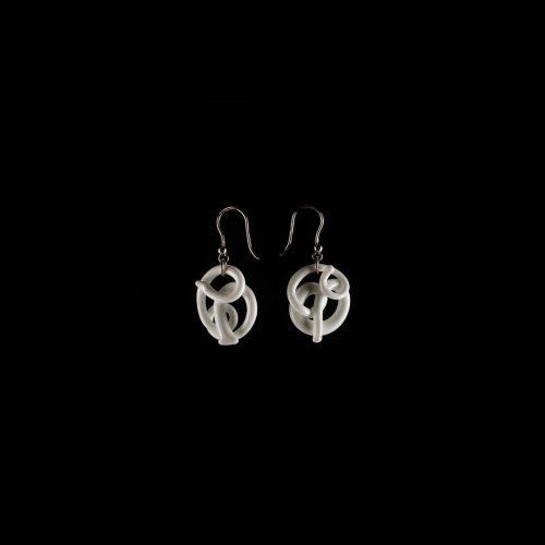 Orecchini White. Earrings White 1.pg